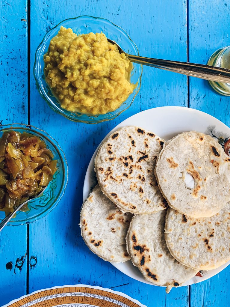 Coconut-roti-dahl-curry
